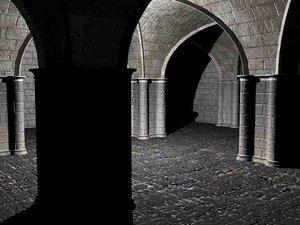 3d romanesque vaults bryce model