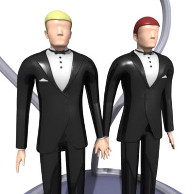 3d wedding cake figures