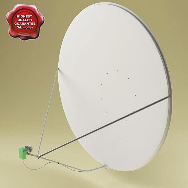 satellite aerial v6 3d c4d
