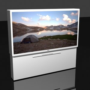 3ds max 51 inch sony television screen
