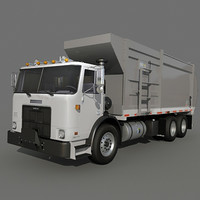 Garbage truck side loader