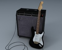 lightwave fender stratocaster guitar
