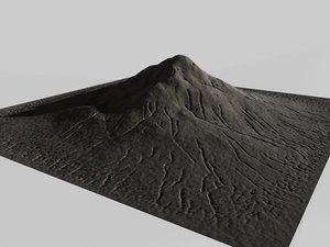 mountain terrain landscape c4d