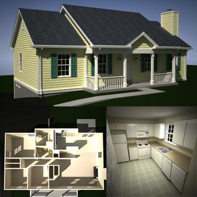 interior house 3d max
