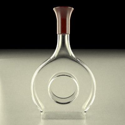 3d alcohol bottle model