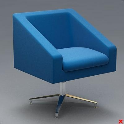 armchair swivel chair dxf