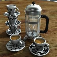 3d model coffee v3