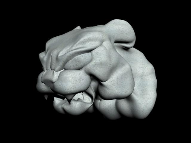 3d sculpture feline model