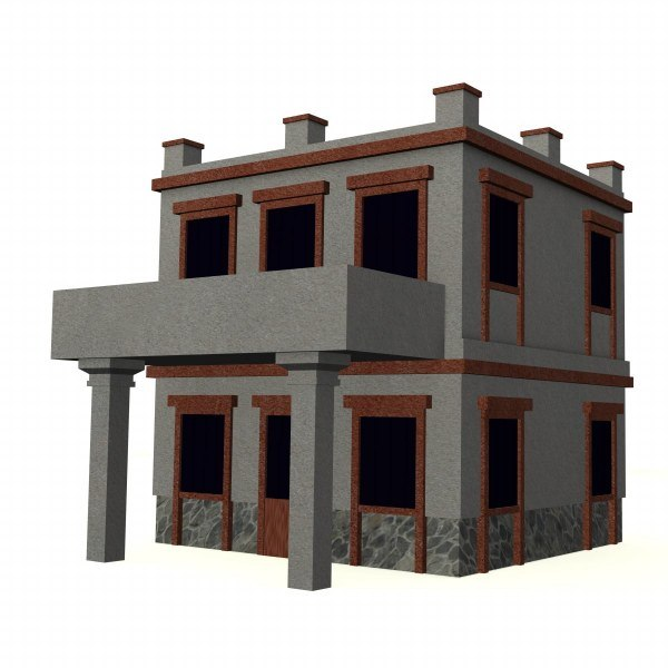3d model greek house
