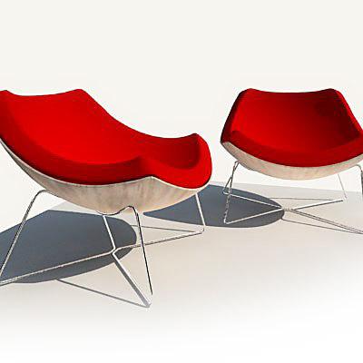 3d model of oc chair