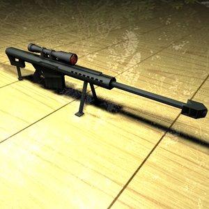 c4d m107 sniper rifle