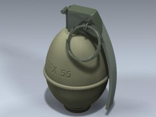 3d model m26a1 grenade