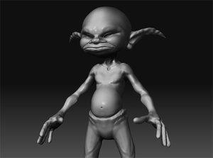 3d model pixie body