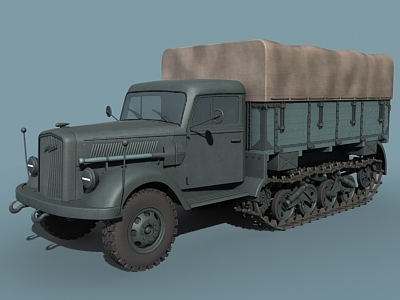 german opel blitz maultier 3d model