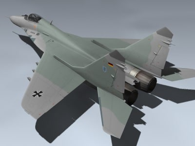 3ds max mig-29a fulcrum germany german