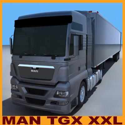 3d man tgx xxl trailer model