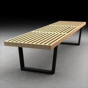 3d model george nelson bench