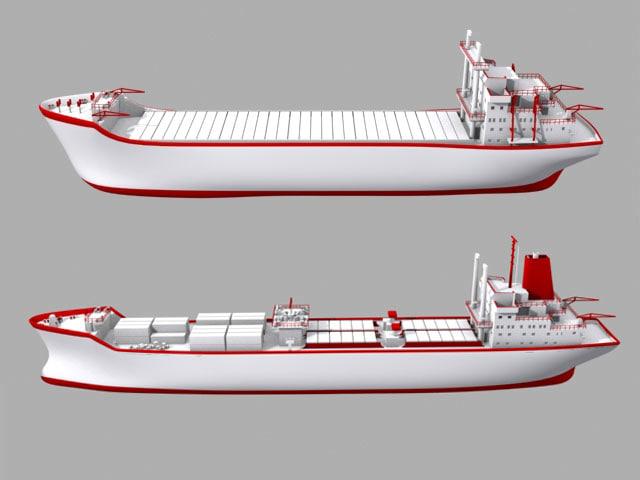 cargo ship 3d max