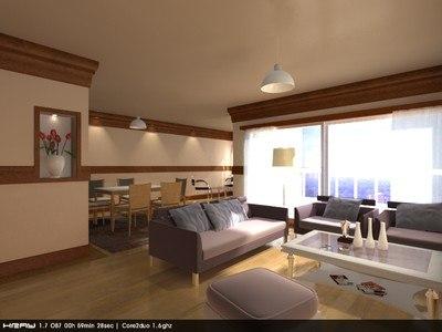 3d model living room scene b