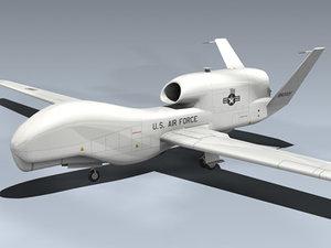 3d rq-4a global hawk aircraft model