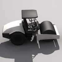 Low Poly SD-116 Soil Compactor.MAX