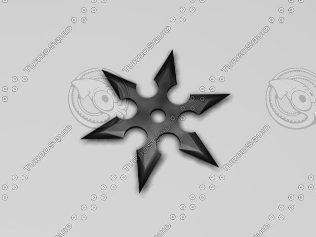 3d model shuriken throwing star