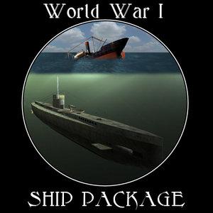 war ship 3d model