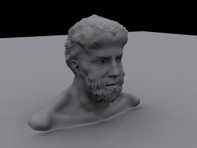 maya statue head