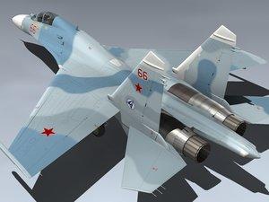 su-27ub flanker c russia 3d max