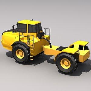 3d model td450d hauler scraper