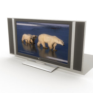 flat television 3d model