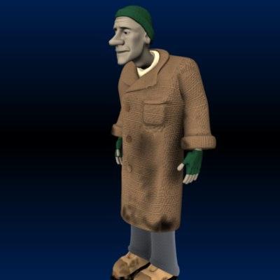 old beggar 3d model
