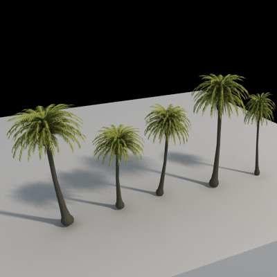 palm trees 3d 3ds