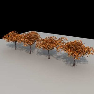 trees architectural 3d model