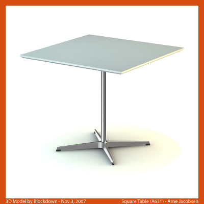 3d arne jacobsen table