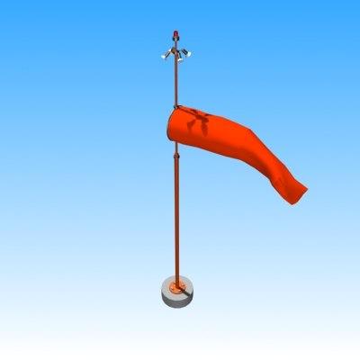 windsock 3d model