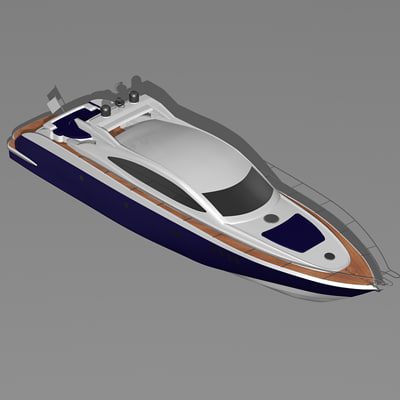 ship luxury yacht boat 3d 3ds