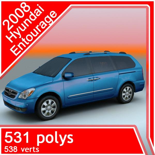 3d model hyundai entourage 2008