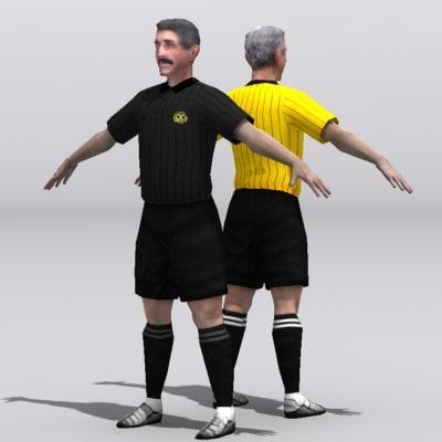 3dsmax soccer referee
