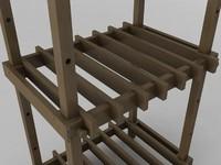 adjustable plant shelf 3d 3ds