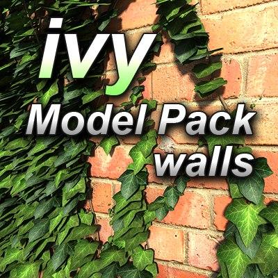 3d ivy walls