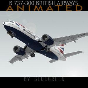 737-300 plane british airways max