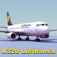3ds max airbus a320 lufthansa