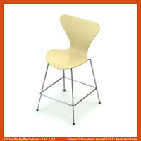 AJ Series 7 Low Stool 3187