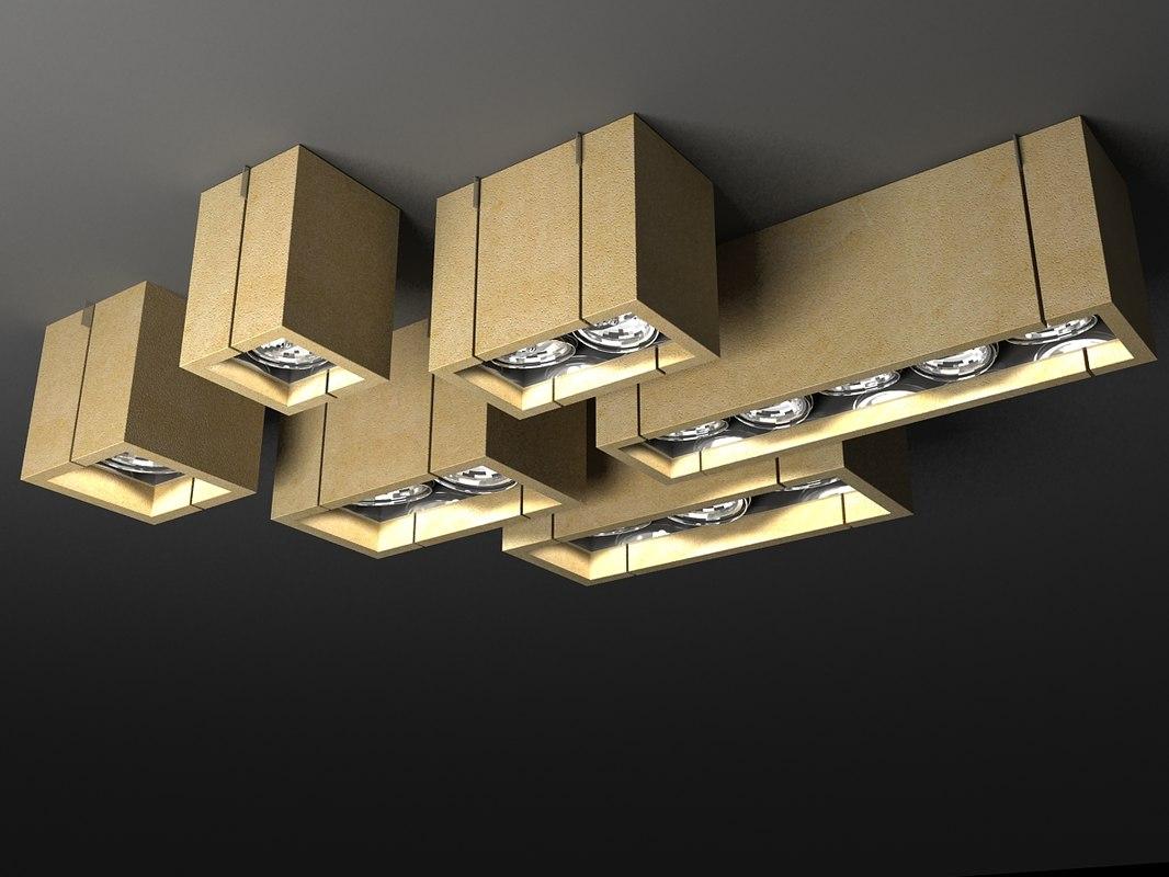 3d lighting cabelli lamps model