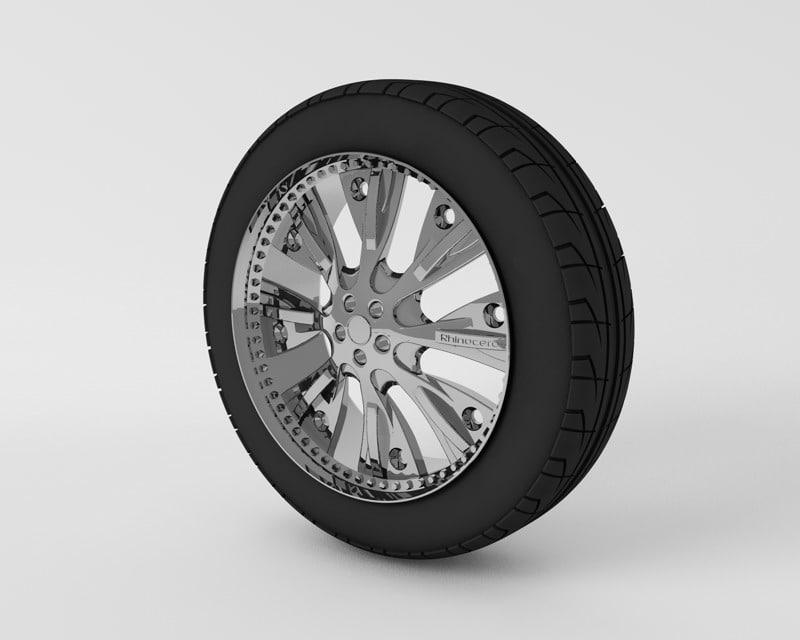 tire rim 3d 3ds