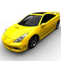 toyota celica 3d model