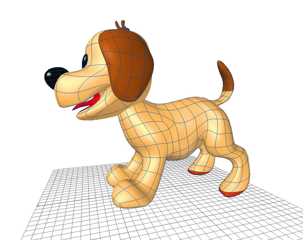 3d dog cartoon