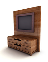 3d model entertainment center
