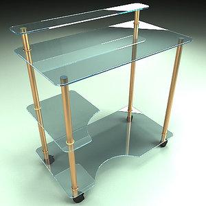 free table modern 3d model